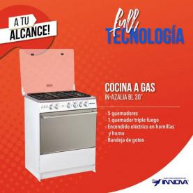 """COCINA GAS 30"""" 5 QUEMADORES INNOVA AZALIA BLANCA"""