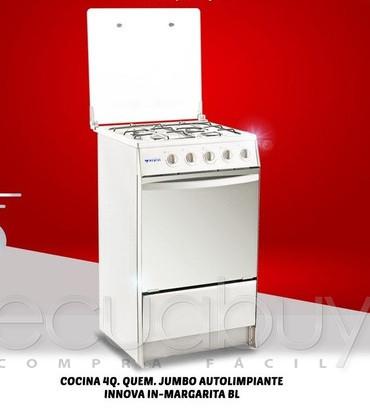 COCINA A GAS 4Q MARGARITA BLANCA INNOVA